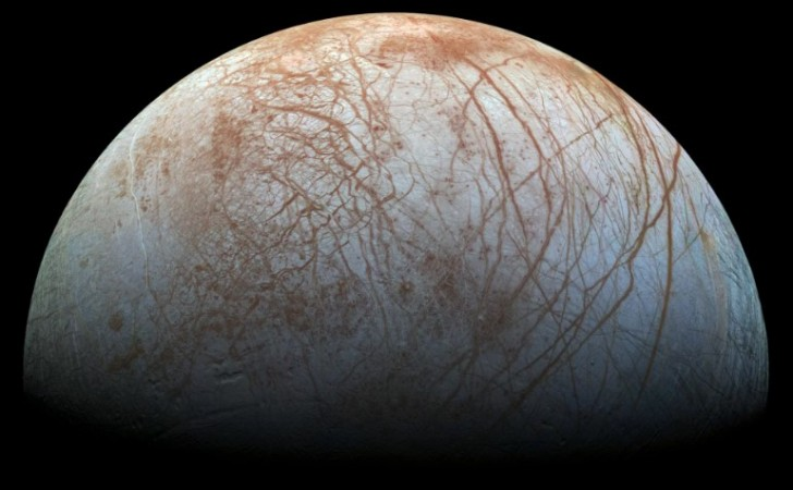 Europa, fotografiada por el satélite Galileo. Foto: NASA/JPL-Caltech/SETI Institute