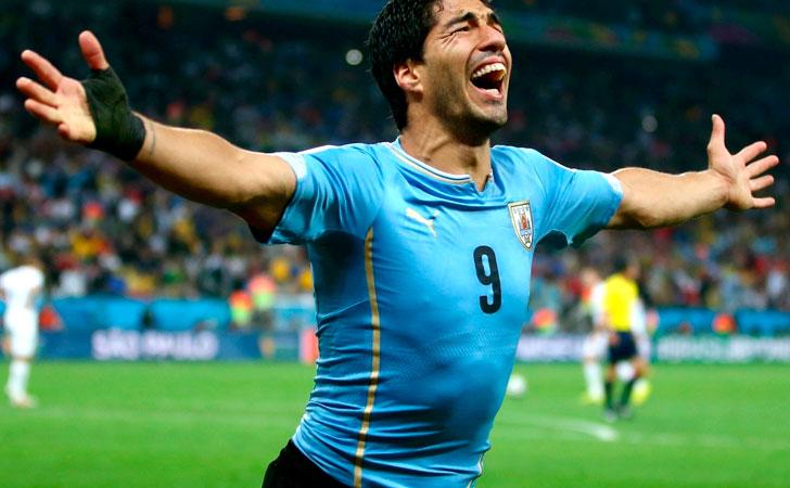 Como olvidarse del festejo y las lágrimas de Suárez al convertir el gol frente a Inglaterra