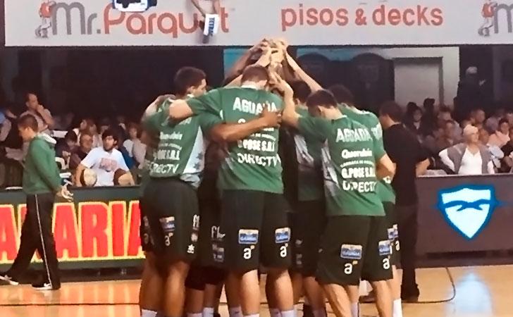 Aguada festejando la victoria sobre Malvín / Foto: Club Atlético Aguada