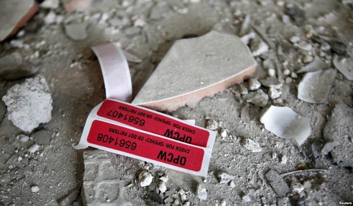 OPAQ confirma probable uso de cloro en un ataque de febrero en Siria.