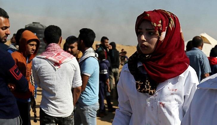 Ejército israelí mata a una enfermera palestina que asistía a heridos en la frontera de Gaza
