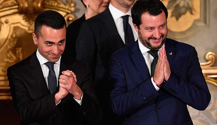 Foto:  los viceprimeros ministros de Italia, Luigi Di Maio y Matteo Salvini