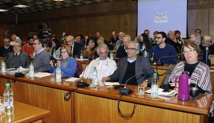 Bancada de legisladores del Frente Amplio. Foto: Presidencia de la República.