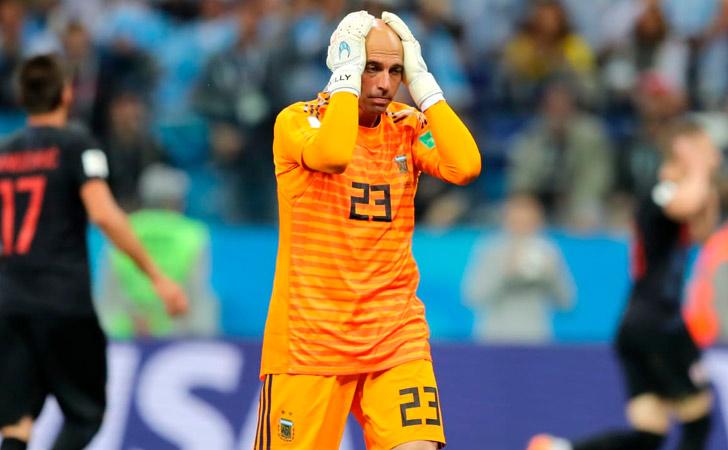 Caballero lamenta el error cometido / Foto: FIFA