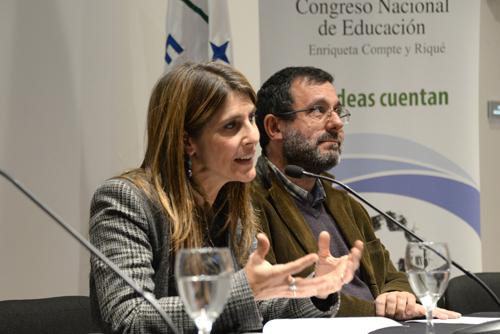 Los profesores Nilia Viscardi y Pablo Martinis, coordinadores del equipo redactor