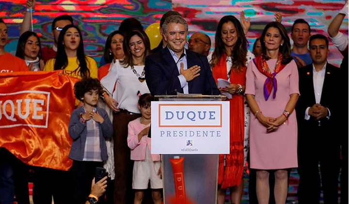 El derechista Iván Duque es el nuevo presidente de Colombia. Foto: archivo primera vuelta.