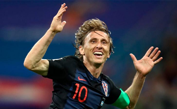 Luka Modric celebra su gol ante Argentina / Foto: FIFA