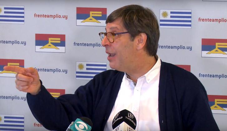 Presidente del Frente Amplio, Javier Miranda, tras la reunión de la Mesa Política.