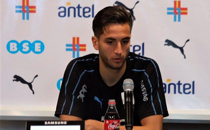 Rodrigo Bentancur en conferencia de prensa / Foto: AUF