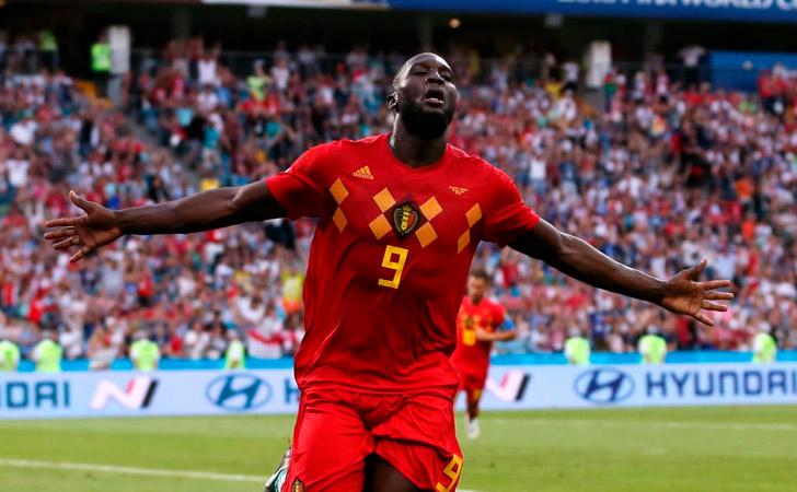 Romelu Lukaku festeja el tercer tanto (segundo personal) de Bélgica / Foto: FIFA