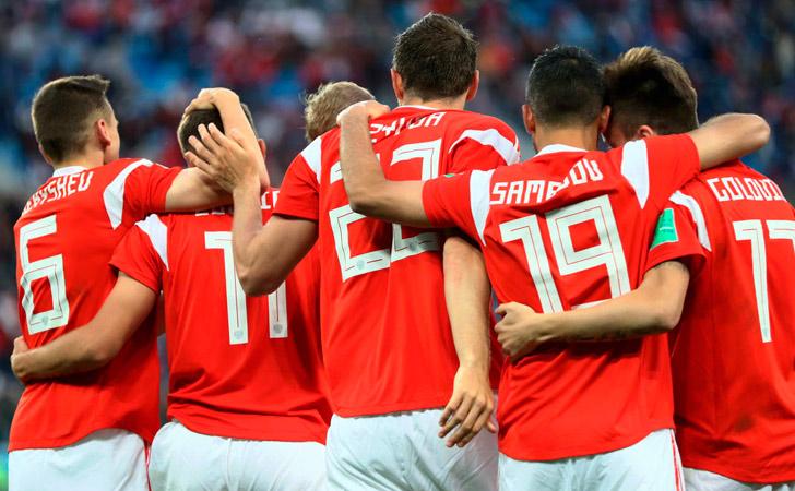 Rusia festeja su segunda victoria en el Mundial / Foto: FIFA