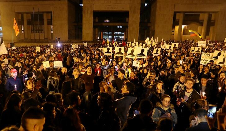 Miles de colombianos marcharon para protestar por la matanza de líderes sociales . Foto: El Espectador