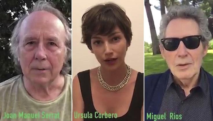 Artistas españoles se manifiestan a favor de la legalización del aborto en Argentina.