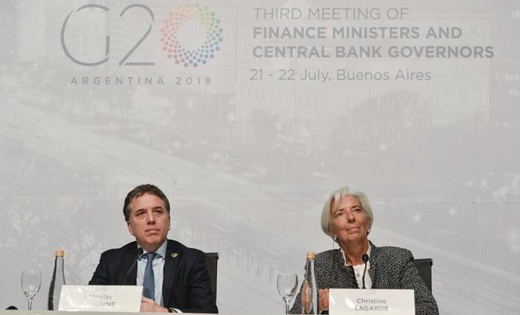 Christine Lagarde reafirmó su respaldo al programa económico de Macri.