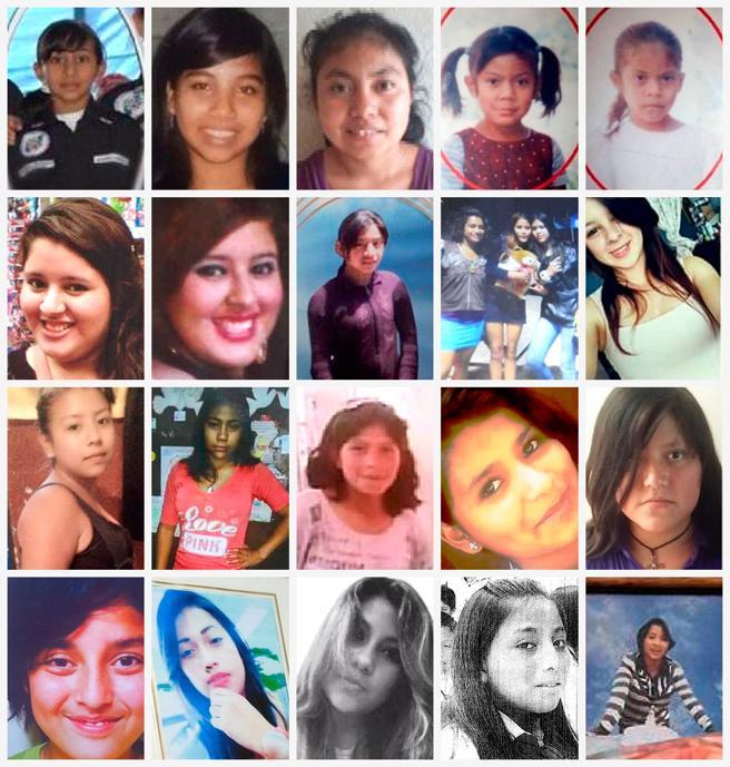 Algunas de las niñas fallecidas en el incendio del Hogar Seguro Virgen de la Asunción en Guatemala