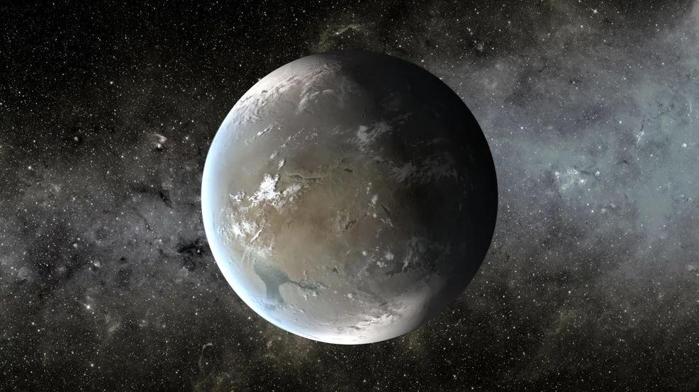 Una interpretación del artista de Kepler-186f, un exoplaneta similar a la Tierra que los astrónomos ahora creen que tiene una inclinación axial estable, dándole temporadas regulares y un clima confortable (Crédito: NASA Ames / JPL-Caltech / T. Pyle )