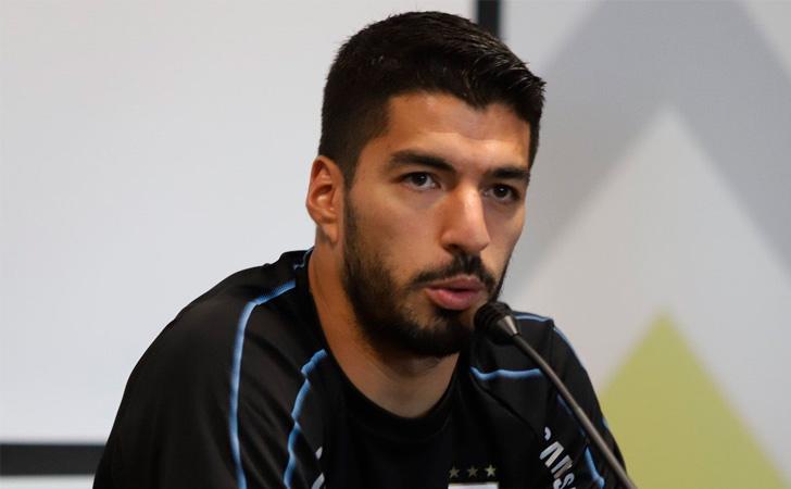 Luis Suárez en conferencia de prensa / Foto: AUF