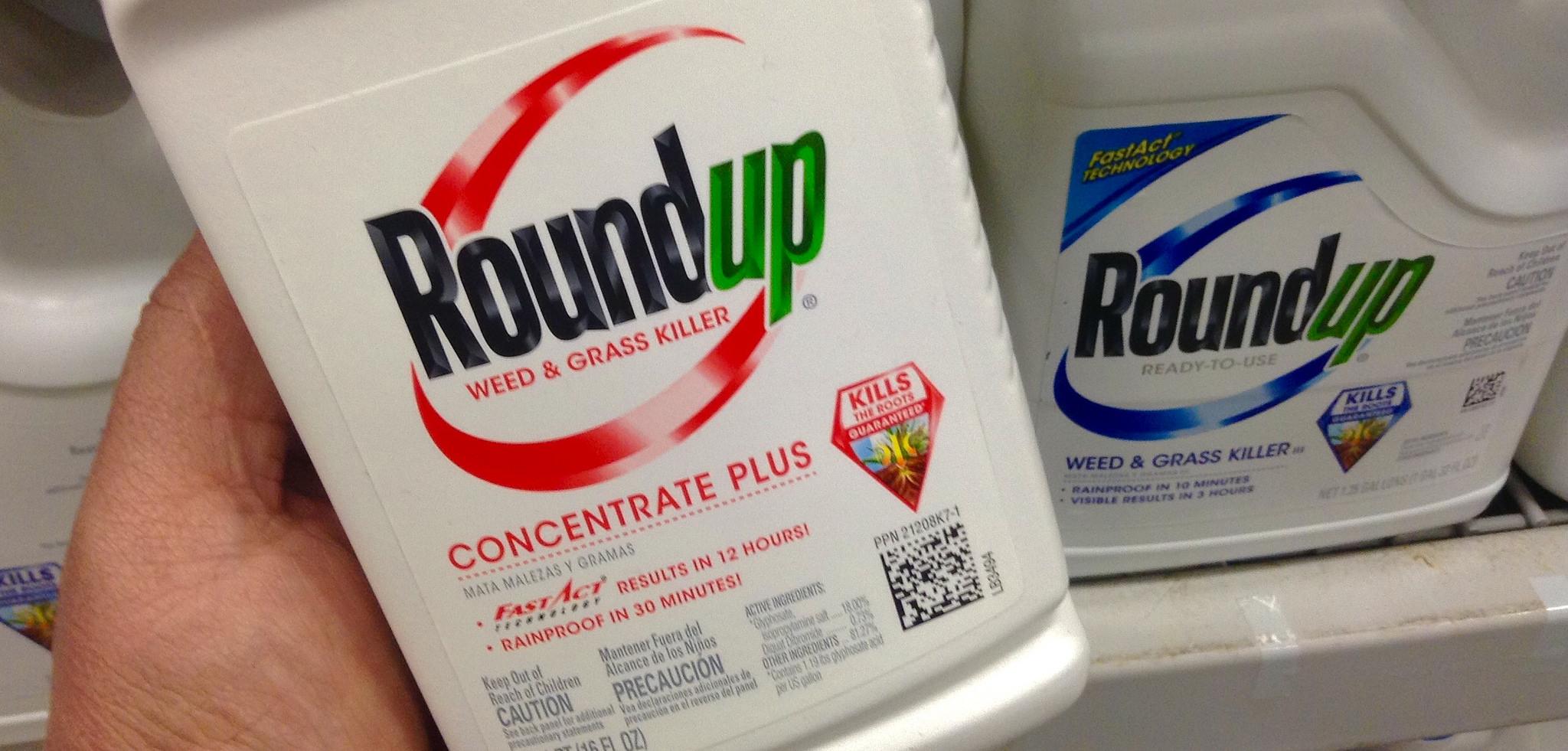 Roundup, herbicida hecho con glifosato, el producto estrella de Monsanto. Foto: Mike Mozart