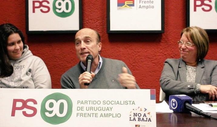 Daniel Martínez fue proclamado precandidato por el Partido Socialista. Foto: Partido Socialista