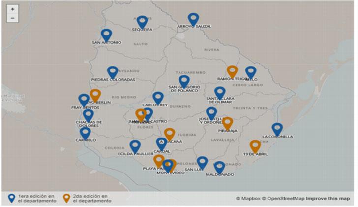 Ciudades, localidades y villas en las que se realizaron Consejos de Ministros. Fuente: Presidencia.