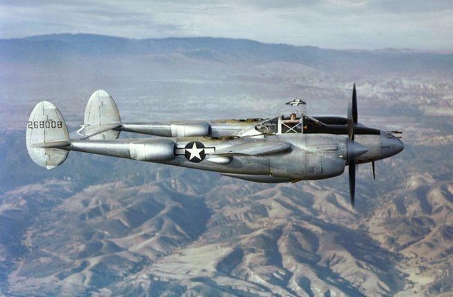 Avión tipo P-38. Foto: Wikimedia Commons