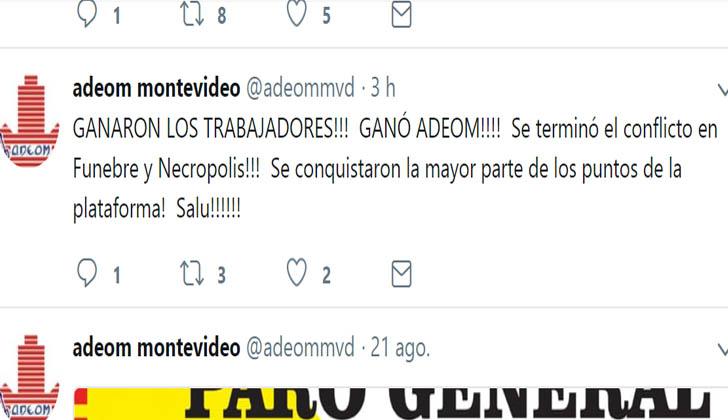 ADEOM anunció a través de su cuenta de Twitter el acuerdo alcanzado con la IM.