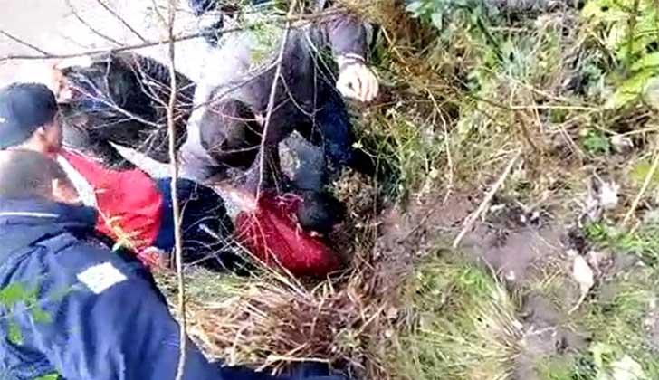 Momento del arresto ciudadano en Pando. Foto: Radio Carve.