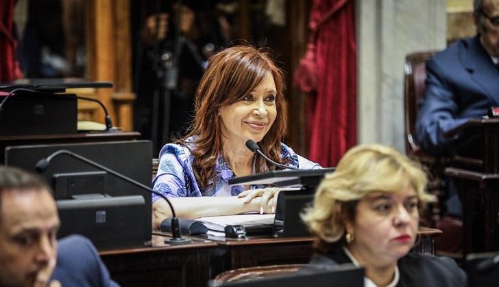 El Senado argentino aprueba allanar las propiedades de Cristina Fernández.