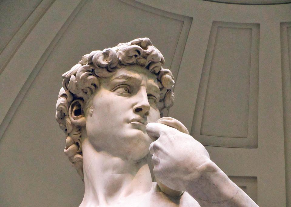 El David, de Miguel Ángel, una de las estatuas más famosas del mundo, después de la limpieza efectuada por restauradores italianos. Foto: Pixabay
