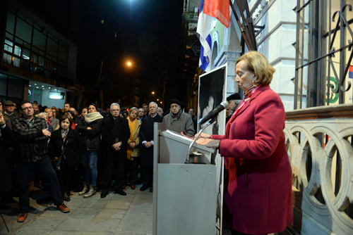 La ministra Muñoz durante su intervención.