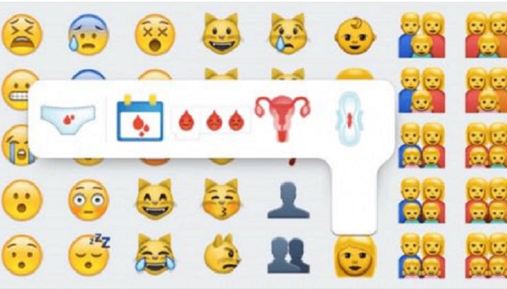 Emojis de menstruación para acabar con el tabú .