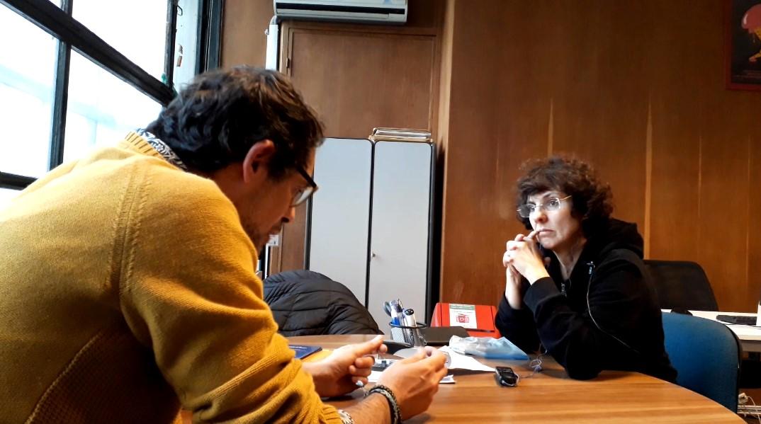 Federico Graña en entrevista con Ana María Mizrahi. Foto: Carlos Loría