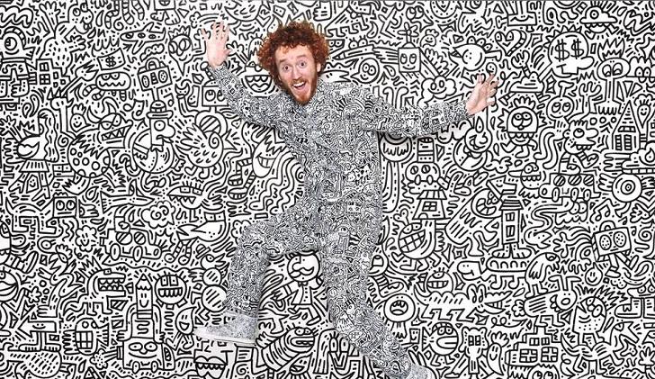 Mr Doodle, el artista que ha hecho de sus garabatos una obra de arte