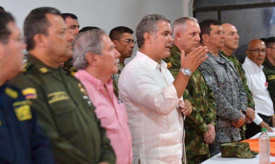 Ivan Duque (de blanco), presidente de Colombia. Foto: Gobierno de Colombia