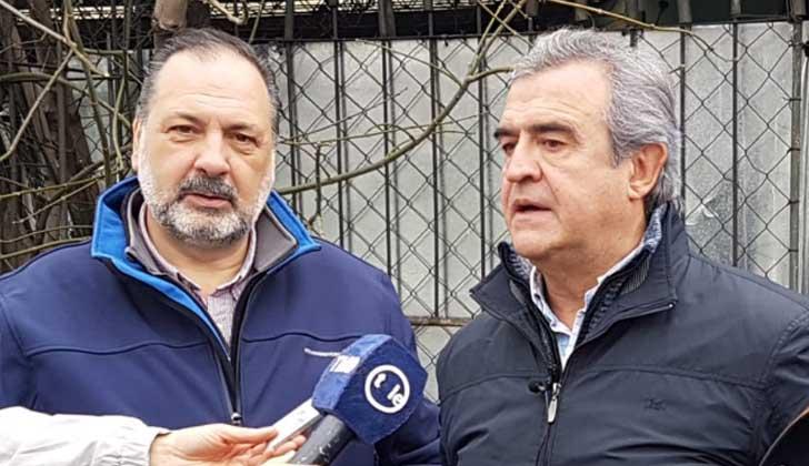 Diputado Jorge Gandini junto al senador Jorge Larrañaga.