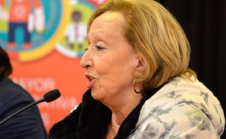 Ministra de Educación y Cultura, María Julia Muñoz