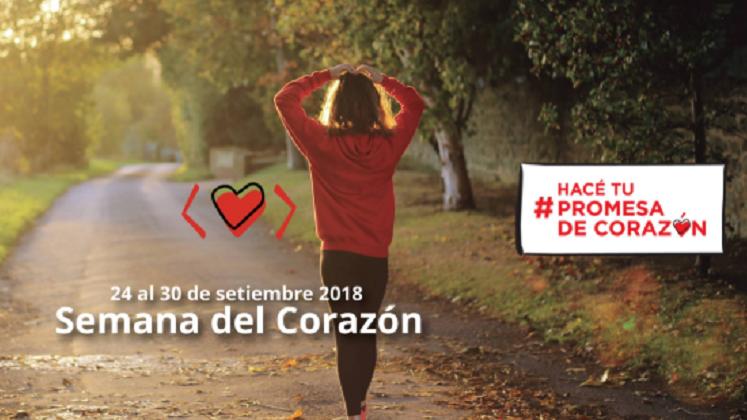 """Convocan a hacer """"promesas de corazón"""" para favorecer la salud cardiovascular"""