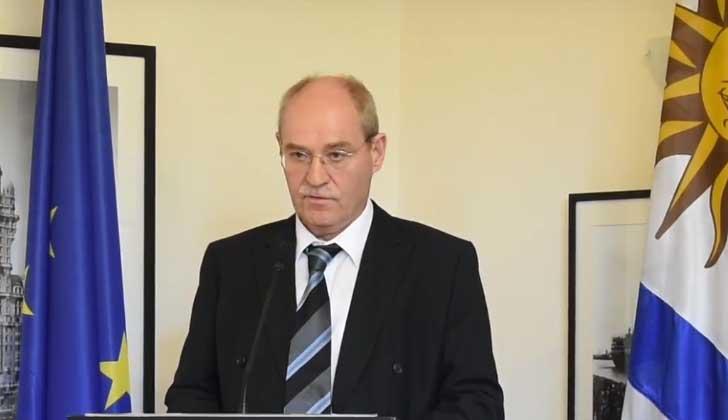 Embajador de la Unión Europea en Uruguay, Karl-Otto König.