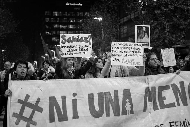 Movilización contra la violencia de género, en Montevideo. Foto: Sofía González / Flickr