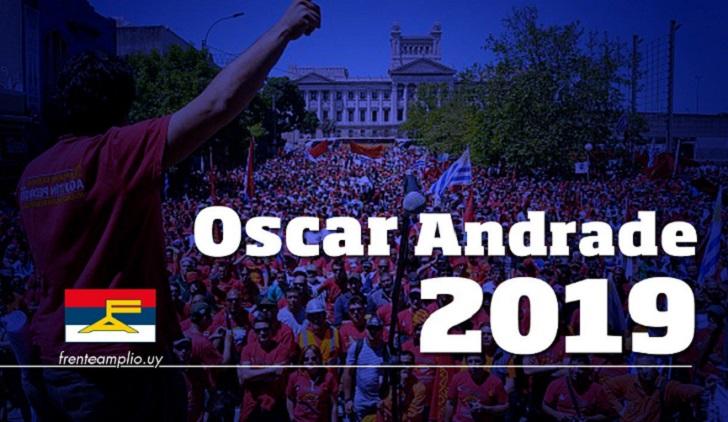 Oscar Andrade será el precandidato del PCU para las internas del FA. Foto:  @https://twitter.com/JuanCastilloPCU