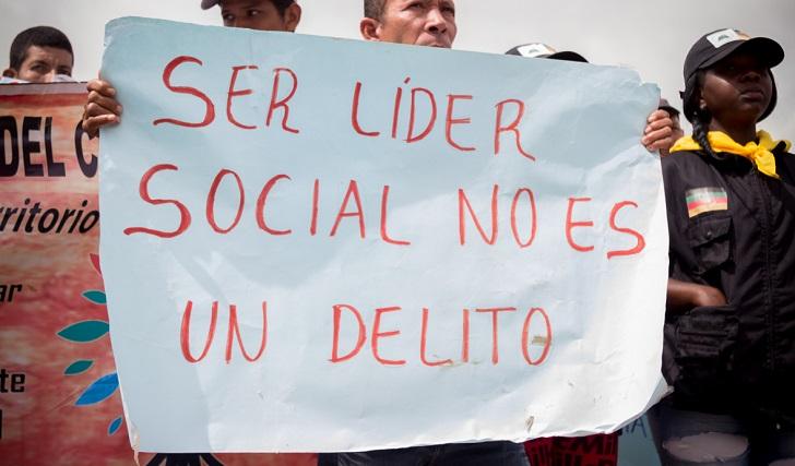 Somos Defensores documentó 609 homicidios de líderes sociales en la última década
