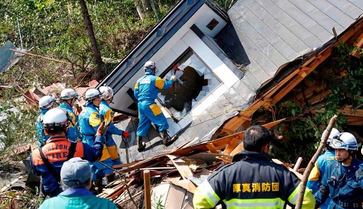 Al menos 9 muertos y varios desaparecidos tras un fuerte terremoto en Japón