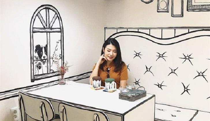 En Seúl hay una original cafetería con diseño de cómic