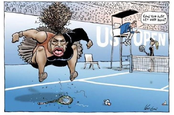 Sexismo y racismo: la caricatura de Serena Williams que encendió polémica.