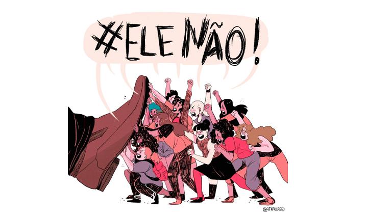 Las mujeres brasileñas se agrupan contra Jair Bolsonaro .