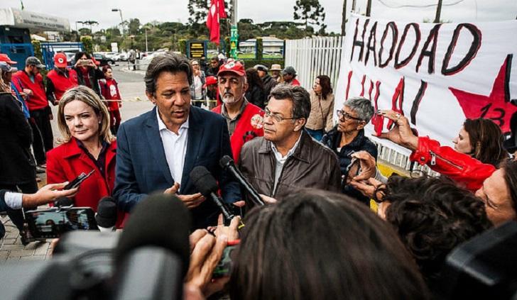 Brasil: Haddad asegura que Lula no aceptará un indulto. Foto: Ahencia PT