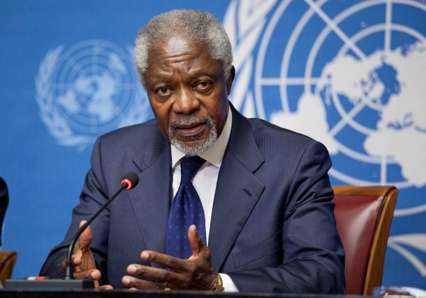 Kofi Annan en una fotografía de 2012. Foto: ONU