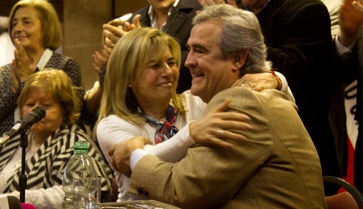 Adriana Peña y Jorge Larrañaga.