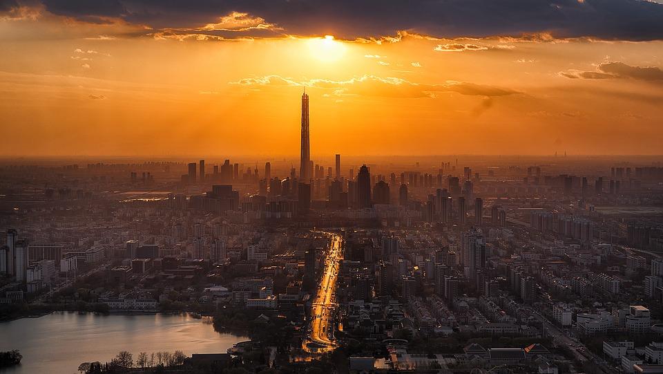 Ciudad de Tianjin, China, en la que viven casi 16 millones de personas, con una densidad de 1111,16 hab/km². Foto: Pixabay
