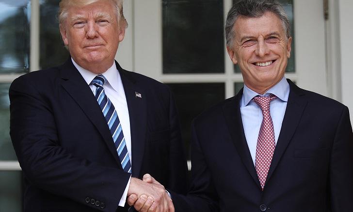 """Trump expresó un """"fuerte apoyo"""" de su país a Argentina frente a la crisis económica . Foto archivo"""